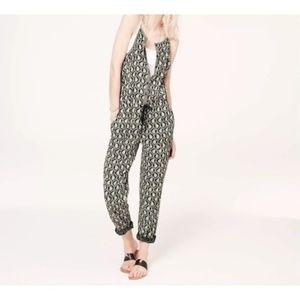 Lou & Grey Scallop Print Black White Jumpsuit